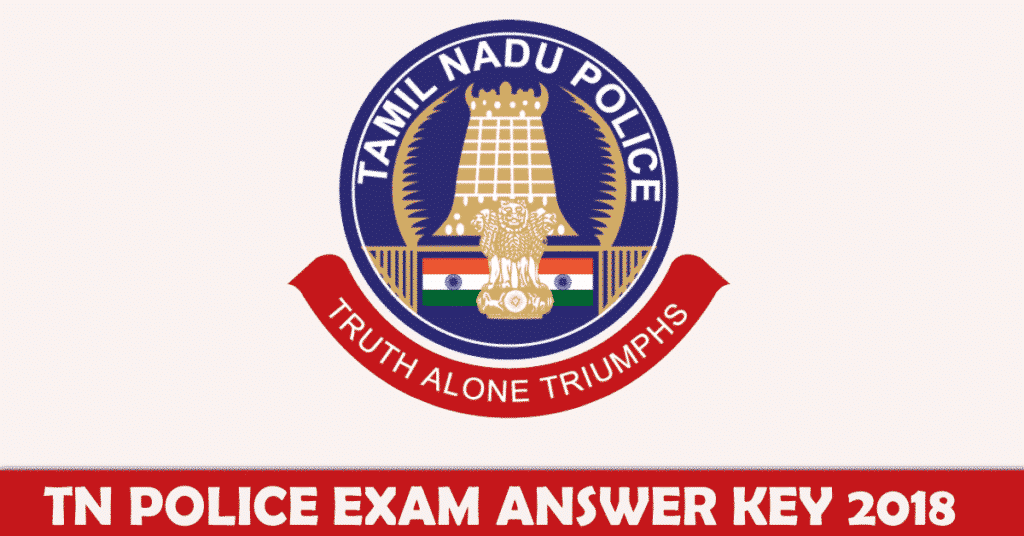 TN Police Exam Answer Key 2018