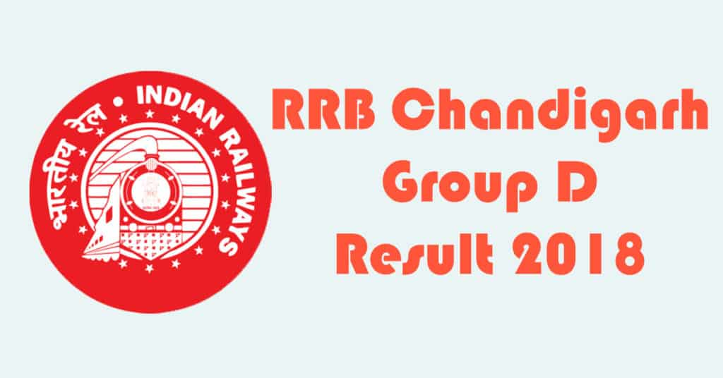 RRB Chandigarh Group D Result 2018