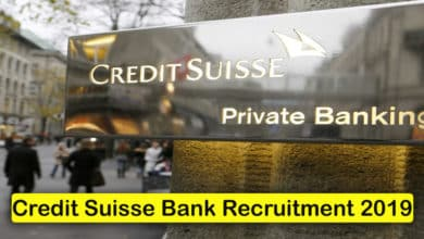 Credit Suisse Bank Recruitment 2019