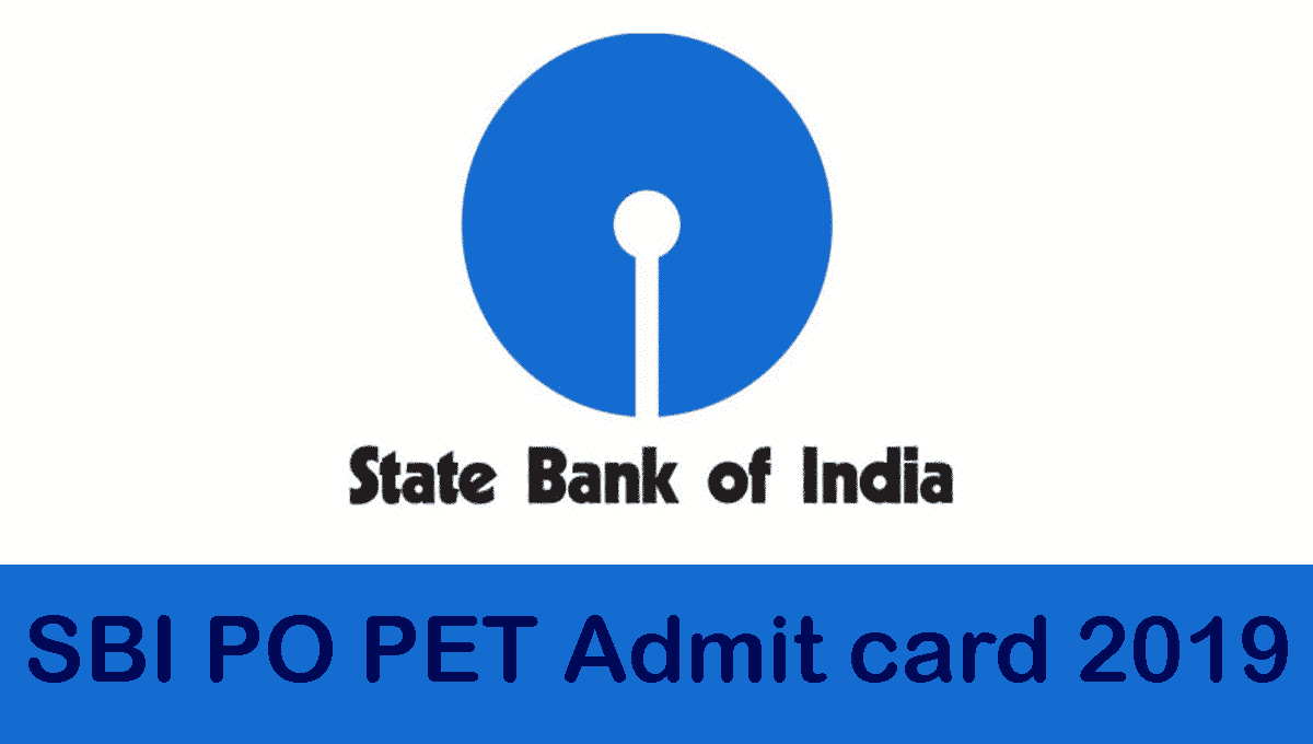 SBI Admit Card 2019