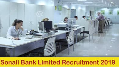 Sonali Bank Limited Recruitment 2019